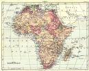 AFRICA: Africa. Britannica 9th edition;1898 map
